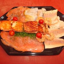 Verfijnd vlees en visbuffet